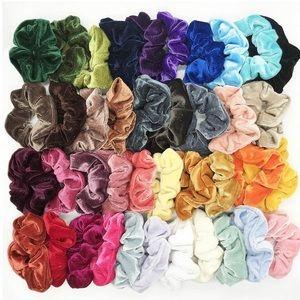 random assorted pack of 24 velvet scrunchies